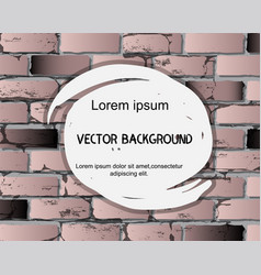 brick wall background with abstract watercolor vector image