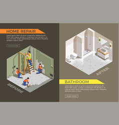 builders repair isometric composition vector image