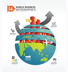 business world infographic concept design template vector image