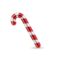 Candy Cane isolated on white background vector image