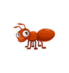 Cartoon ant icon funny emmet cute insect vector