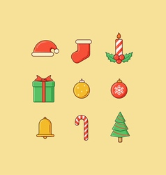 Christmas Icons Flatten vector