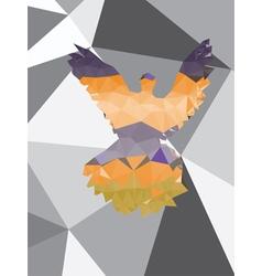 Colorful Polygonal Pigeon5 vector