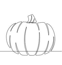 continuous line scared cat halloween cartoon vector image