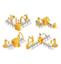 Conveyor system isometric design concept vector