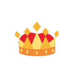 crown monarch jewel royalty authority vector image
