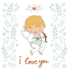 Cute little cupid vector