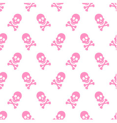 cute pink skeleton pattern vector image