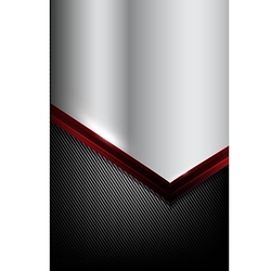Dark carbon fiber and red overlap element abstract vector image