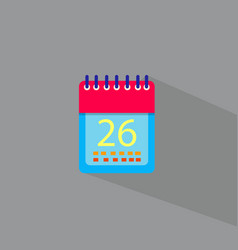 date icon set of great flat icons design vector image