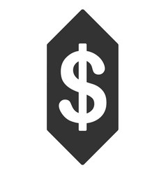 dollar ticket flat icon vector image