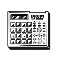 drum machine music producer equipment vector image