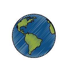 Earth planet isolated vector