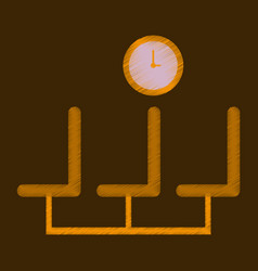Flat icon in shading style airport waiting room vector