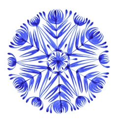 Floral decorative ornament snowflake vector