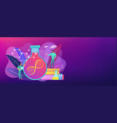 gene therapy concept banner header vector image