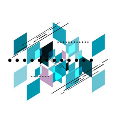 geometric shear template abstract background vector image