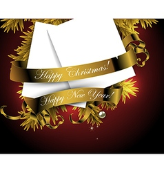 Happy christmas and new year design vector image