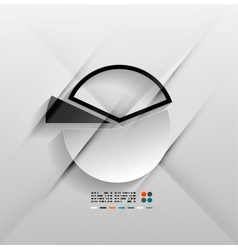 infographic chart 3d paper design vector image