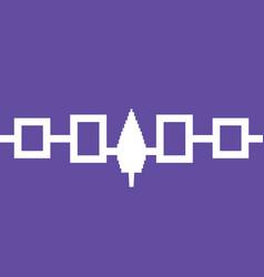 iroquois confederacy haudenosaunee flag in real vector image