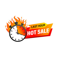 last hour offer banner vector image