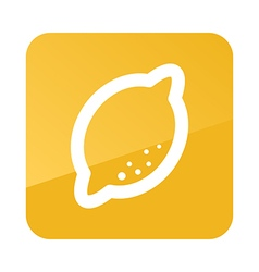 Lemon outline icon Tropical fruit vector image