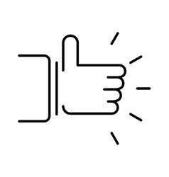 Like hand finger up sign thumb icon symbol success vector image