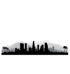 Los angeles usa skyline city silhouette vector