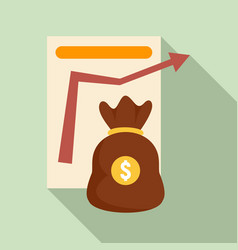 money bag management icon flat style vector image