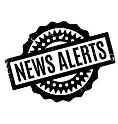 News alerts rubber stamp vector