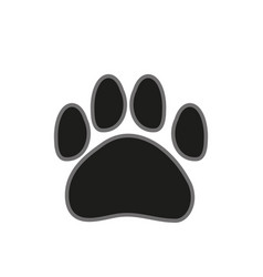 paw print icon on white background in flat style vector image