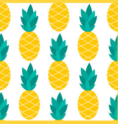 pineapple seamless pattern on white vector image