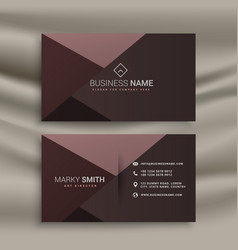 Professional dark business card design template vector