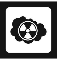 Radioactive air icon simple style vector