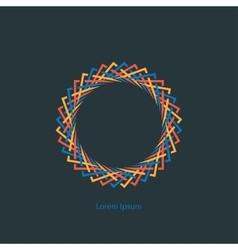 Round monogram vector