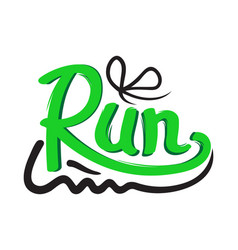Running shoe symbol on white background trainers vector