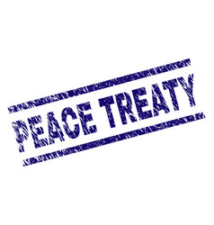 Scratched textured peace treaty stamp seal vector