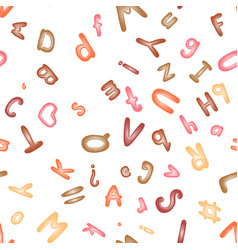 seamless pattern with an alphabet of modeling vector image