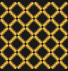 Seamless pattern with golden abstract vector