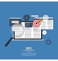 Seo search engine optimazation vector