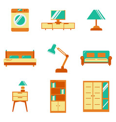 set accessories and furniture armchairs vector image