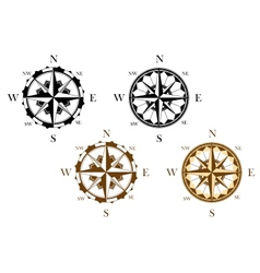 Set of antique compasses vector image