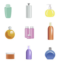 set of body care products isolated on white vector image