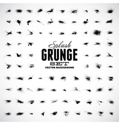 Set of grunge splashes vector image