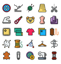 sewing equipment icon set vector image