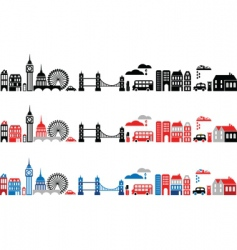 silhouettes of european cities london vector image