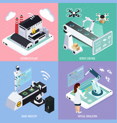Smart industry design concept vector