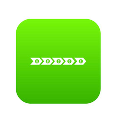 Step by step infographic icon digital green vector