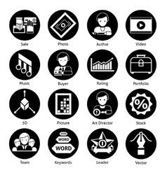 Stock icons black vector