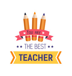 teachers day isolated icon school worker vector image